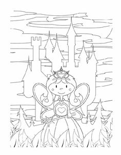 Fantasy coloring pages: Fairy godmother