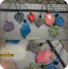 Ceramic Necklaces by 'Rita Martins' You can order! Email us: porta.dezasseis@gmail.com