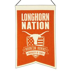 Decorate your office or game room with a banner that shows your team pride. Each Nation Banner combines a school logo with a well known phrase on a unique shield design. They measure x and come with a hanging cord for easy display. Dallas Cowboys Wallpaper, Ut Football, Ut Longhorns, Hook Em Horns, Felt Banner, Shield Design, Texas Forever, Faculty And Staff, School Logo