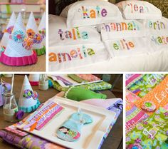 Courtney Portner created a Quiet Time inspired slumber party for her daughter. So many sweet ideas here.