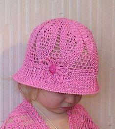 Click to view pattern for - Crochet baby hat Casquette, Chapeau Crochet,  Tricot Et 1c80096228e
