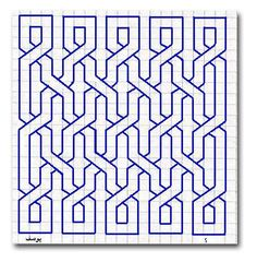 Entrelacement quadrillage See the article for more information. Motifs Blackwork, Blackwork Embroidery, Graph Paper Drawings, Graph Paper Art, Geometric Drawing, Geometric Art, Islamic Art Pattern, Pattern Art, Pixel Art