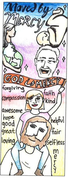 """Bookmark Level II - 1st Place Winner - Respect Life theme """"Moved by Mercy"""" All entries are property of Respect Life Diocese of Rockville Centre Office © 2017"""