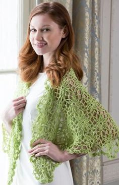 I Love Paris Wrap - free Red heart crochet pattern by Susan Badgley. Featuring join-as-you-go flower motifs, requires 655 yds (599 m) sport weight yarn, 4mm hook,