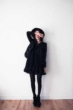 simply aesthetic || black outfit