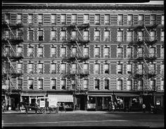 Walker Evans (American, 1903–1975). [Apartment Building Façades and Horse-Drawn Carriage on Sixth Avenue, New York City], August 1, 1934. The Metropolitan Museum of Art, New York. Gift of Arnold Crane, 2003 (2003.564.70) © Walker Evans Archive, The Metropolitan Museum of Art #newyork #nyc