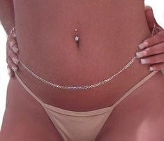Sterling silver belly chain for Sale in Sacramento, CA - OfferUp Piercings bellybutton nariz oreja Innenohr Piercing, Bellybutton Piercings, Ear Piercings, Unique Body Piercings, Stomach Piercings, Female Piercings, Waist Jewelry, Body Chain Jewelry, Belly Button Piercing Jewelry