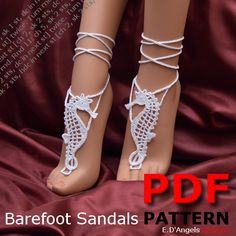 Hey, I found this really awesome Etsy listing at https://www.etsy.com/listing/151425341/barefoot-sandals-pattern-seahorse