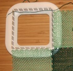 Weaving pin loom squares together