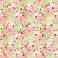 Beautiful floral seamless texture — Stock Illustration #27484993