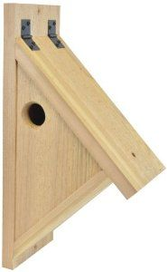 Backyard Boys Woodworking Nuthatch Nest Box: Nuthatch nest box made from western red cedar, remove screw from front panel for easy cleaning. Nuthatches eat nuts, or peanuts and bugs from trees and gardens. Diy Wood Projects, Wood Crafts, Woodworking Projects, Youtube Woodworking, Woodworking Workshop, Woodworking Classes, Woodworking Videos, Woodworking Shop, Bird House Plans