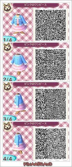 QR code d'une robe rose&bleue