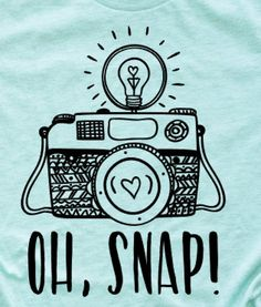 Oh Snap! Perfect shirt for yourself or a gift for your favorite photographer! This shirt is unisex sizing, a beautiful heather mint color, cotton, and super soft! Design is pressed on with heat transfer vinyl. Photography Puns, Tshirt Photography, Photographer Humor, Mint Color, Heat Transfer Vinyl, Unisex, T Shirt, Gifts, Cold
