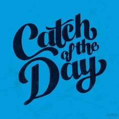 catch of the day | #handlettering #typography #drawing #dailydrawing #sketch #sketchbook