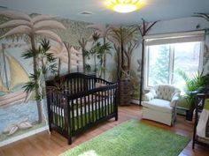 The coolest baby nursery themes including nursery ideas for a baby boy nursery, a baby girl nursery and gender neutral baby room themes. Jungle Nursery, Nursery Room, Jungle Theme, Baby Boy Rooms, Baby Boy Nurseries, Kids Rooms, Neutral Nurseries, Nursery Themes, Nursery Ideas