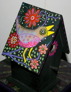 Funky Home Decor: Hand Painted Birdhouses $29.95