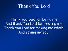 Thank You Lord!