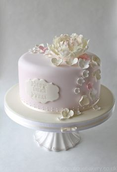 I just love peonies. Peony Cake Designs | pretty and elegant wedding cake is my palest pink and ivory peony cake ...