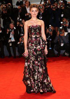 Amber Heard au Festival du Film de Venise