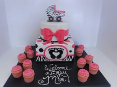 I just love zebra and pink. If I ever have a baby girl, totally zebra!! (Shabby Chic baby shower (1040) by Asweetdesign, via Flickr)