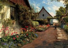 Peder Mork Monsted In The Garden painting for sale, this painting is available as handmade reproduction. Shop for Peder Mork Monsted In The Garden painting and frame at a discount of off. Paintings I Love, Paintings For Sale, Ink Paintings, Flower Paintings, Garden Painting, Garden Art, Landscape Art, Landscape Paintings, Nature Paintings