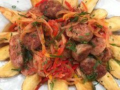 Chorizos a la pomarola con papas españolas provenzal Pot Roast, Healthy Recipes, Healthy Foods, Food Porn, Food And Drink, Beef, Cooking, Ethnic Recipes, Youtube