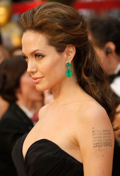 Angelina Jolie 2013 hairstyles always get appreciation from all the viewers and friends. Bring out your hidden beauty with Angelina Jolie 2013 hairstyles. Oscar Hairstyles, Celebrity Hairstyles, Down Hairstyles, Trendy Hairstyles, Wedding Hairstyles, Angelina Jolie Hairstyles, Bridesmaids Hairstyles, Long Hairstyle, Half Up Wedding Hair