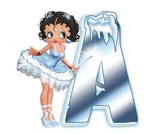 Oh my Alfabetos!: Alfabeto invernal de Betty Boop.