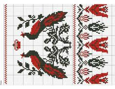 Cross Stitch Bird, Cross Stitching, Cross Stitch Patterns, Red Pattern, Loom Beading, Diy And Crafts, Kids Rugs, Birds, Embroidery