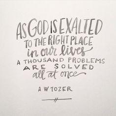 Exalt God...