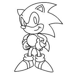Dessin Sonic A Colorier