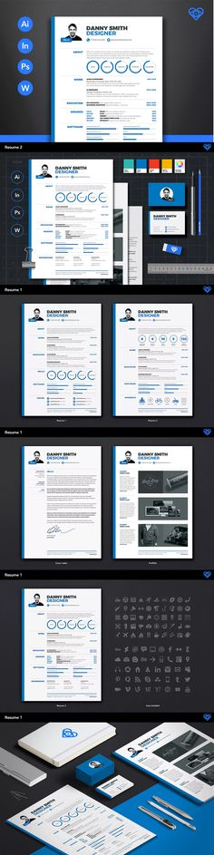 Bold Resume Template AI, INDD, PSD, MS Word Resume \/ CV Design - office 2010 resume template