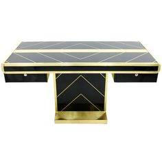 Impressive Writing Desk, France circa 1980s | From a unique collection of antique and modern desks and writing tables at http://www.1stdibs.com/furniture/tables/desks-writing-tables/