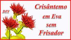 CRISÂNTEMO EM EVA SEM FRISADOR -  DIY