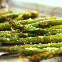 Roasted Asparagus with Pesto and Lemon.