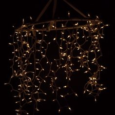 Rustic Hula-Hoop Chandelier #DIY #light #outdoor