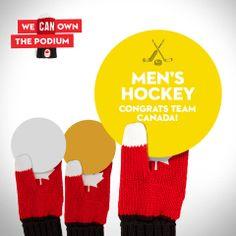 Canada Wins Gold in Men's Hockey!