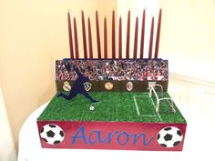 sports themed candle lighting