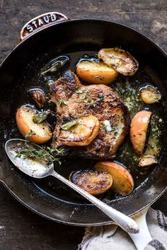 Apple Butter And Sage Pork Chops Half Baked Harvest - Simplifying Dinner Tonight With These Apple Butter And Sage Pork Chops This Easy Recipe Is All Things Fall Pan Seared Pork Chops With Apple Butter Sage A Splash Of Balsamic And A Little Browned B Healthy Low Carb Recipes, Low Carb Dinner Recipes, Cooking Recipes, Keto Dinner, Dinner Healthy, Diet Recipes, Seared Pork Chops, Apple Pork Chops, Pork Loin