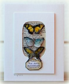 CC473 Butterflies by Biggan - Cards and Paper Crafts at Splitcoaststampers