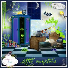 Little monsters Paprika_Littlemonsters [Paprika_Littlemonsters] - $2.12 : Digital-Crea.fr, La boutique du Scrapbooking Digital