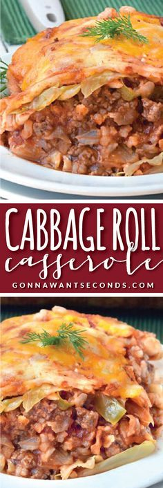 This easy Cabbage Roll Casserole has all the delicious nostalgic flavors of cabbage rolls without all the work!!!