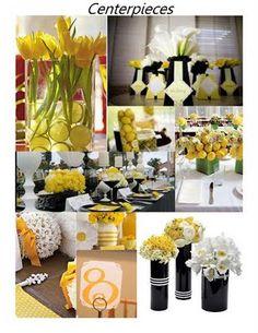 #black #yellow #wedding