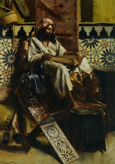 """Study of the Qur'an"" by Rudolf Ernst"