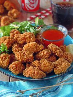 Az otthon ízei: Csirke Popcorn Popcorn, Cauliflower, Bacon, Yummy Food, Vegetables, Ethnic Recipes, Delicious Food, Cauliflowers, Vegetable Recipes