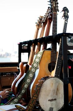 This looks like my rack of guitars and banjo