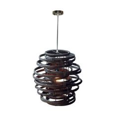 Features:  -Oceola collection.  -Hand woven.  -Nickel fixture finish.  Fixture Type: -Mini pendant.  Style: -Mid-Century/Modern.  Theme: -Tropical.  Hardware Finish: -Nickel.  Hardware Material: -Alum