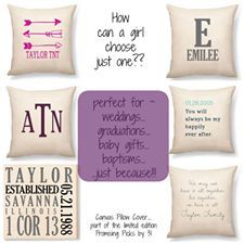 Love these pillows and canvases! So many options! I want some in every room of my house!