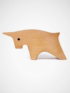 {Wooden Horns} A bull of a paperweight.