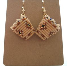 Native American Beaded Huckleberry Basket Earrings by CJBeadwork, $55.00